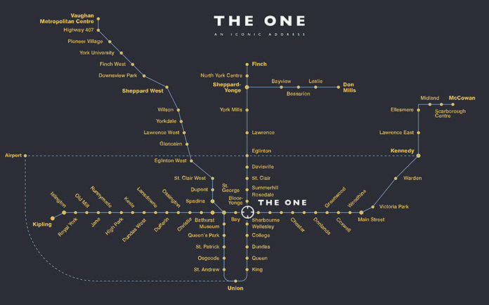 the one transit map