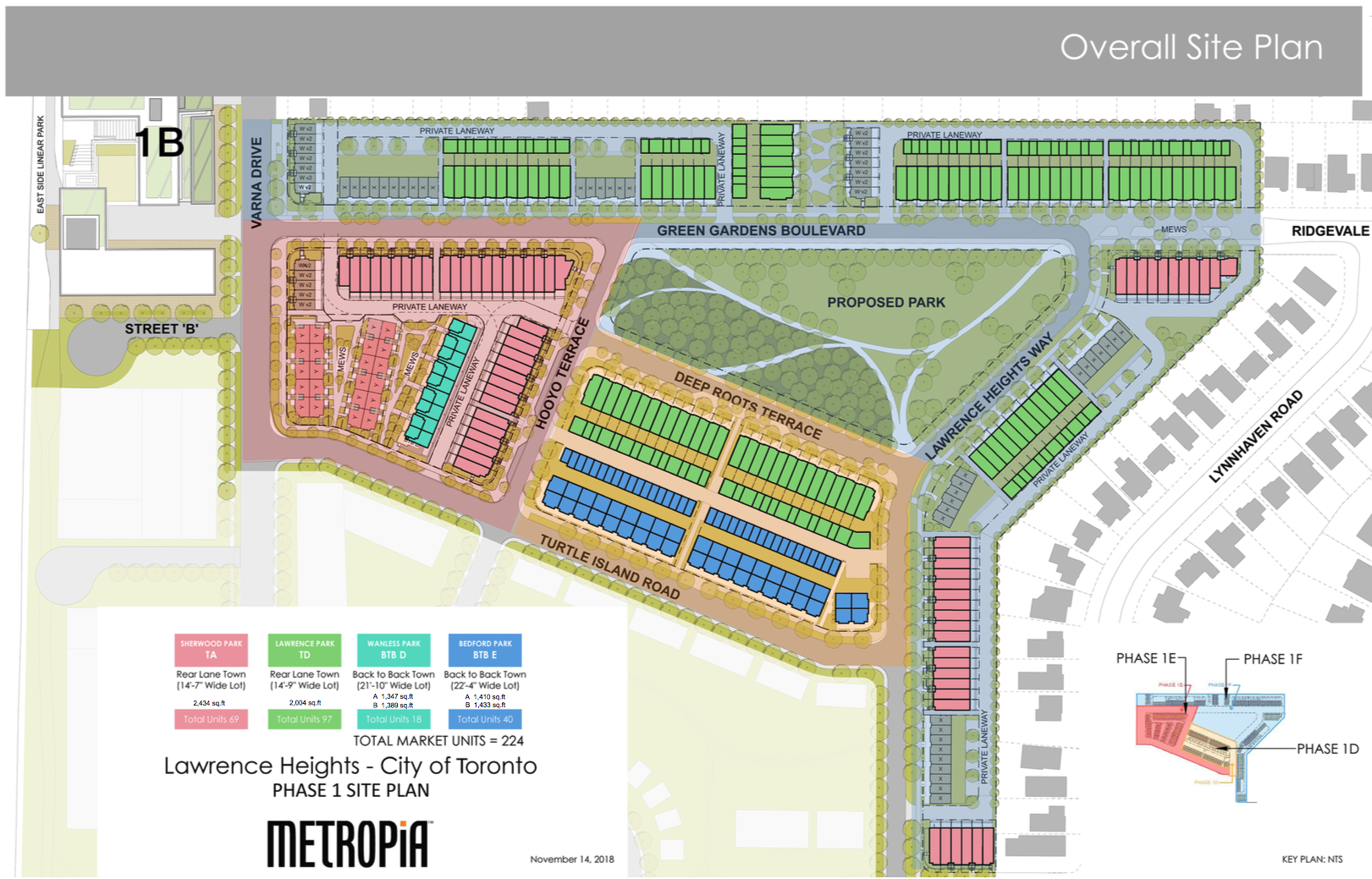 The New Lawrence Heights Community Site Plan