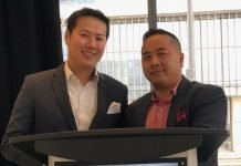 Jason Lam, VP of Sales and Marketing for CentreCourt with David Vu