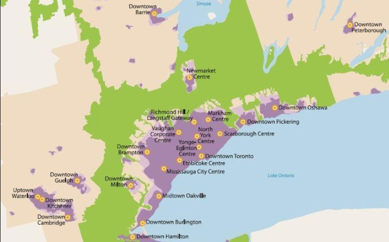 Places To Grow Act Map GTA and Hamilton