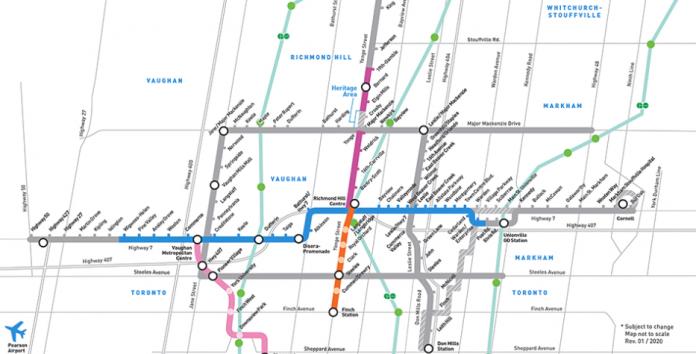 Yonge Subway Line Map.New Yonge North Subway Extension To Richmond Hill And Markham