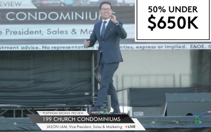 Jason lLam, Centrecourt Developments 199 Church Street Condos Live Virtual Launch