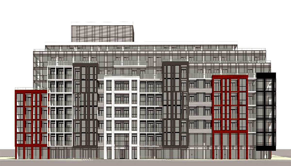 New 9-storey development with 264 residential units