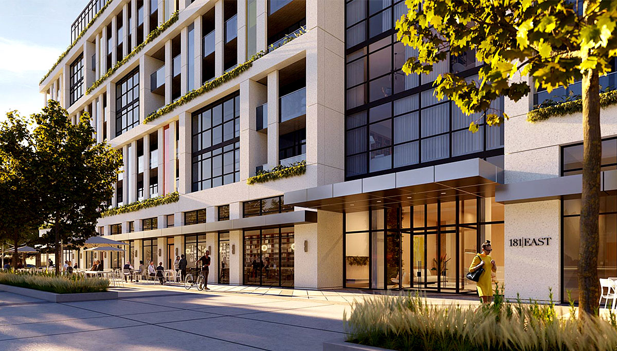 10-storey mixed-use building with retail and commercial in Willowdale Neighbourhood