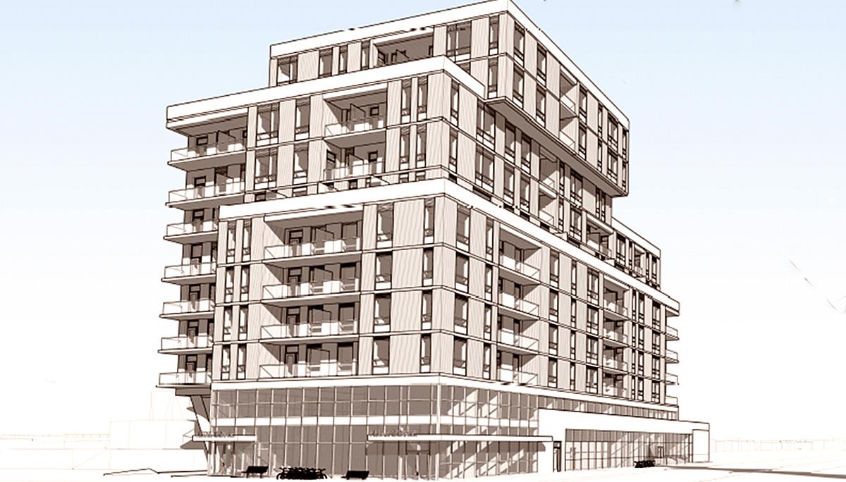 New Mixed-use, Mid-rise Condo Development in Scarborough