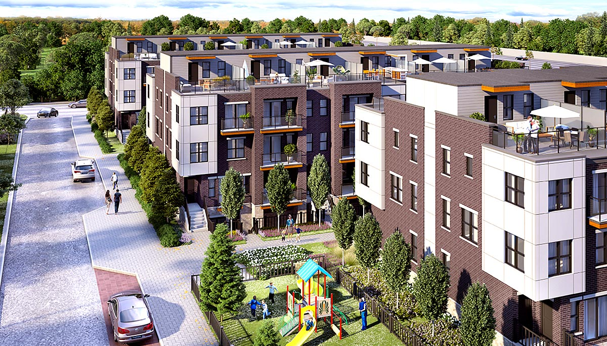 New Townhome Project at 2020 Camilla Rd, Mississauga, ON L5A 1A4
