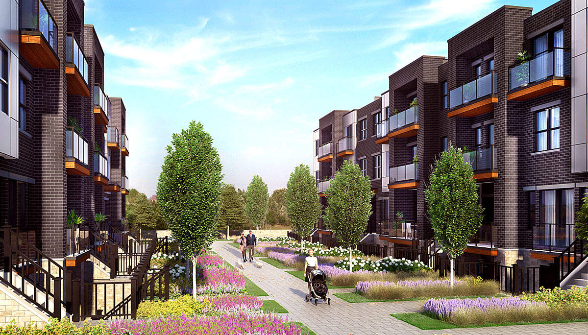 New Townhome Development at the neighbourhood of Cooksville in Mississauga
