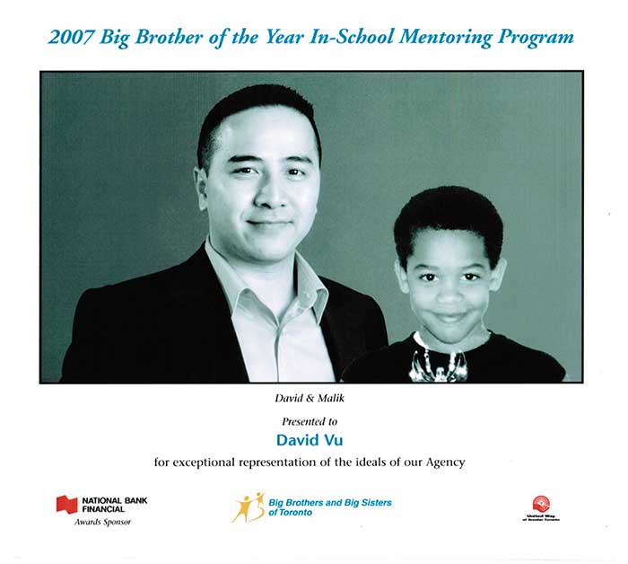 David Vu - Big Brother Big Sister