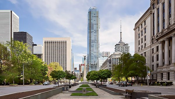New mixed-use development in Downtown Toronto District
