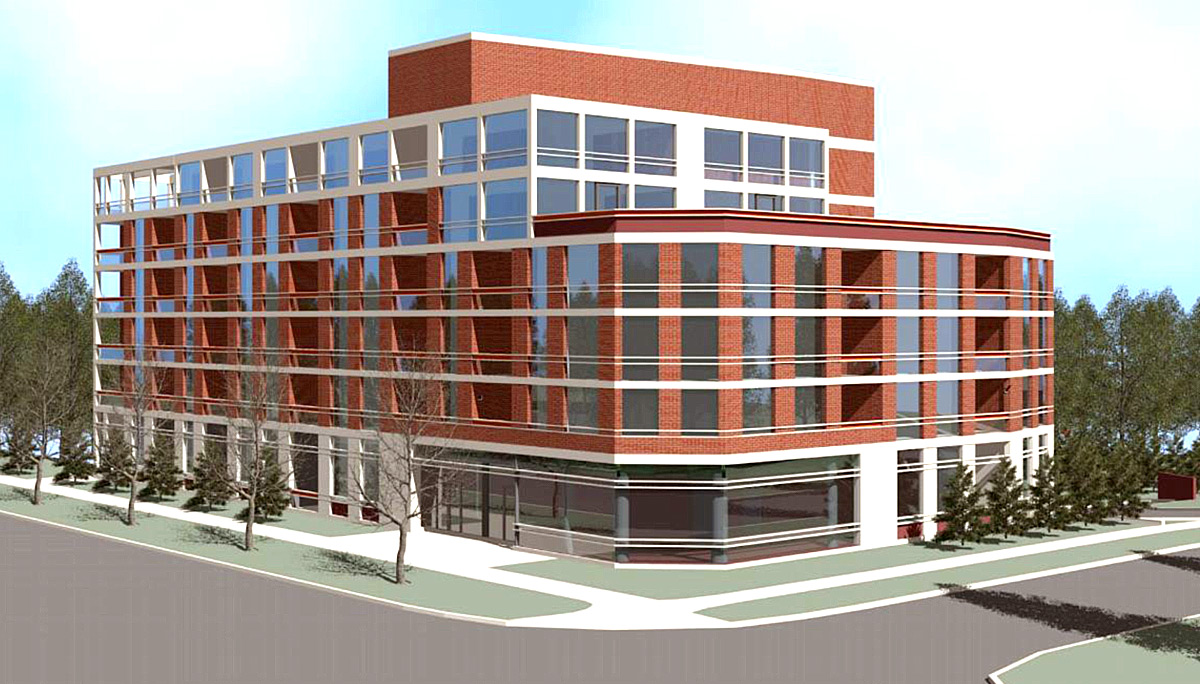 New Mix-Used Mid-Rise Development with 68 Residential Units