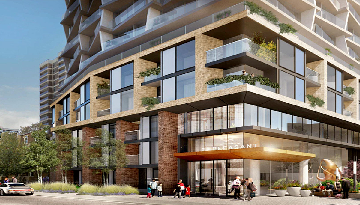 A new mixed-use dvelopment in the Deer Park neighbourhood