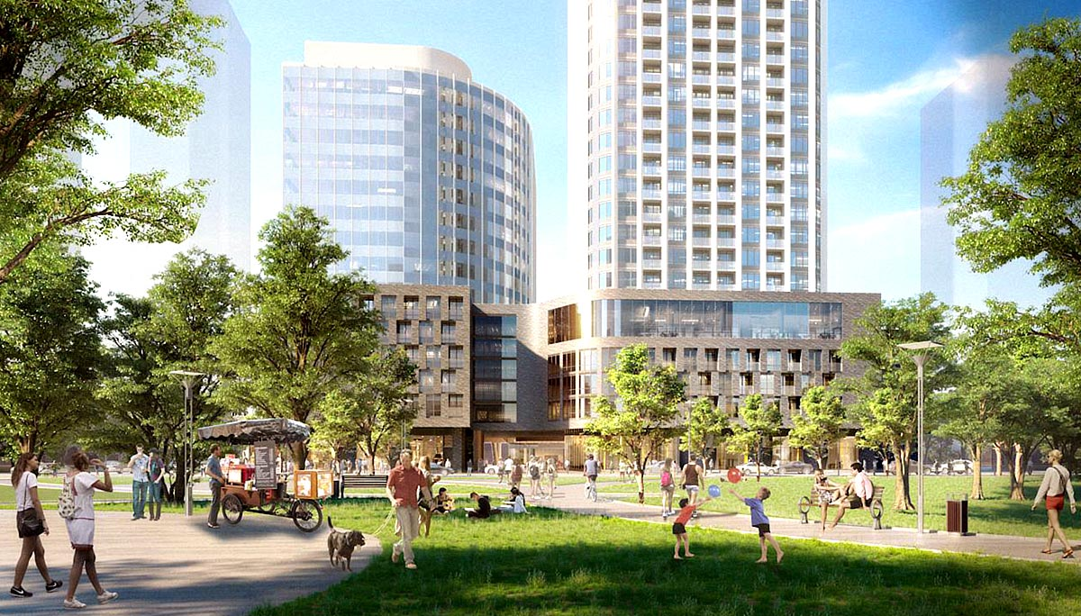 New Residential Condo, Office, and retail Development in the Vaughan Metropolitan Centre
