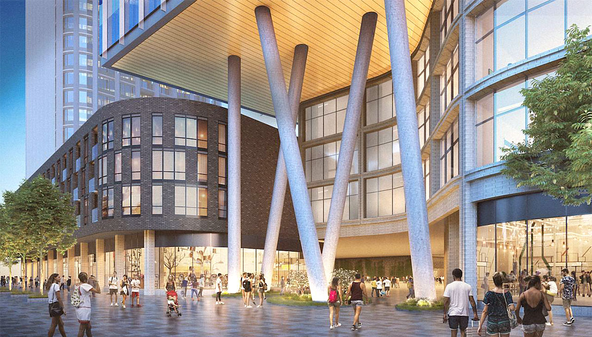 1,332 square metres of retail space will be located on the ground floor.