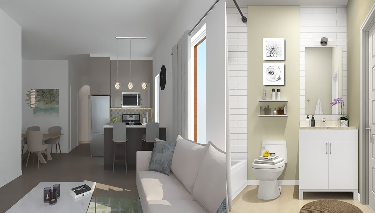 2 and 3-bedroom suites that will range from 1,220 to 1,439 square-feet