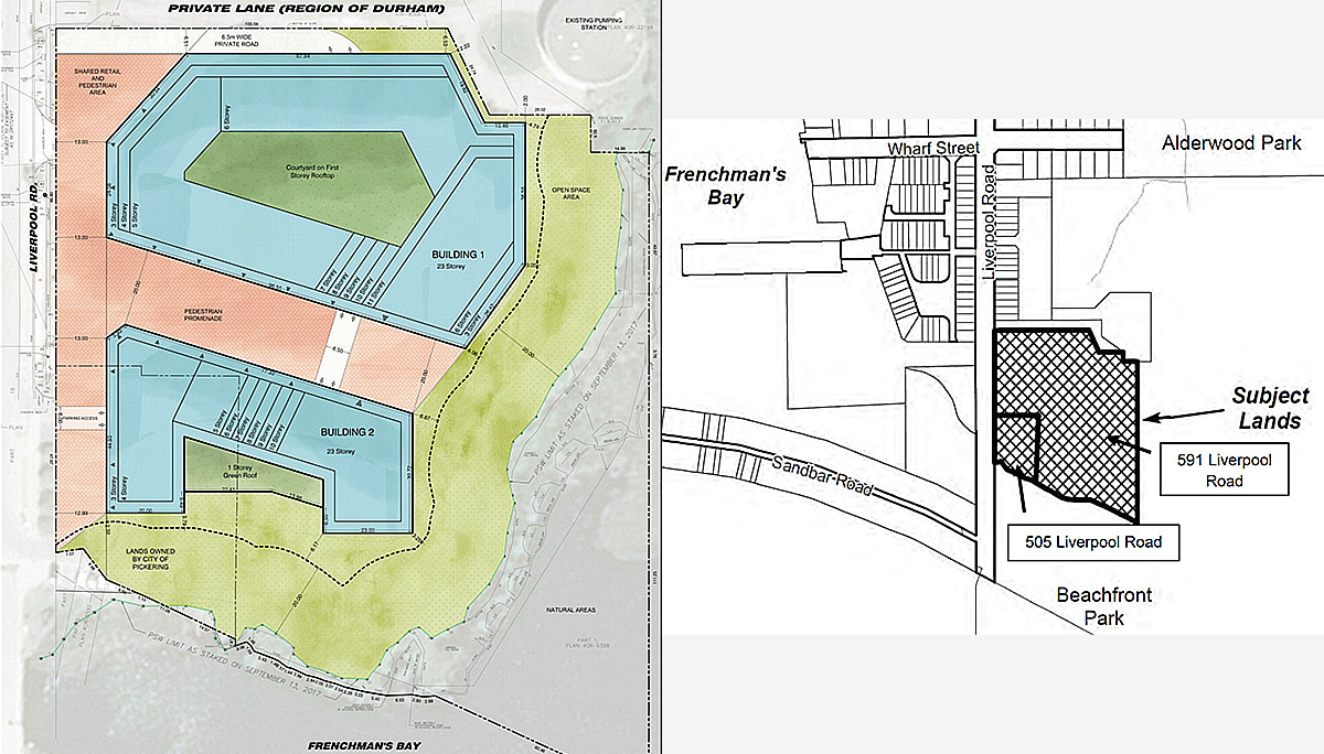 A New Mixed-use Residential development Pickering's Waterfront.