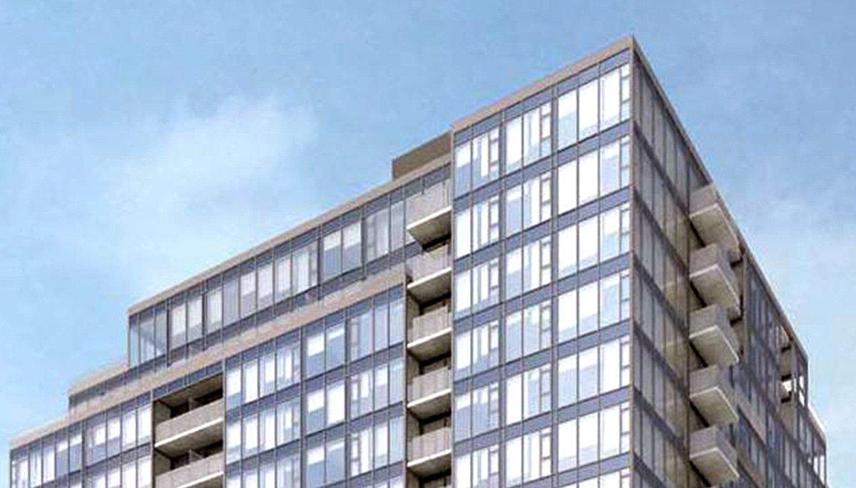 This mixed-use condominium will reach 14-storeys high