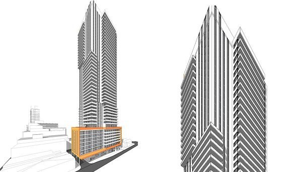 44-storey, mixed-use building in Mount Pleasant