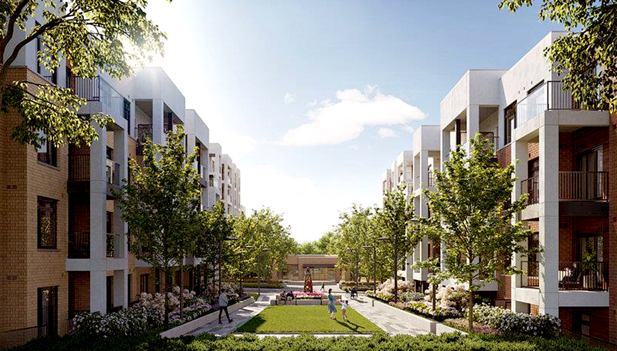 A new Development With Mix of Townhomes and Mid-rise Condominiums in Toronto