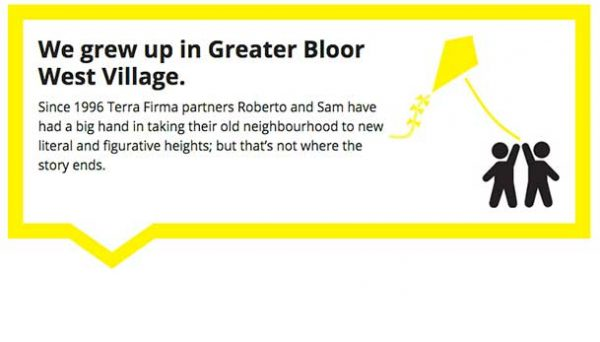 Partners and co-owners Roberto Salmena and Sam Grasso grew up in the Bloor West neighbourhood in Toronto