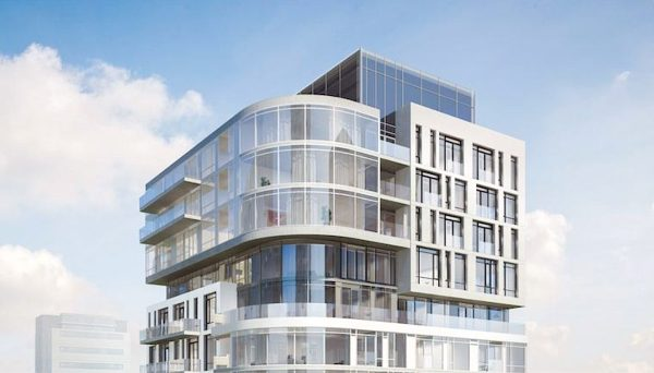 Nine-storey boutique building with 64 residential units