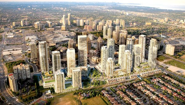 New residential condominium at 465 Burnhamthorpe Rd W, Mississauga, ON L5B 0G4