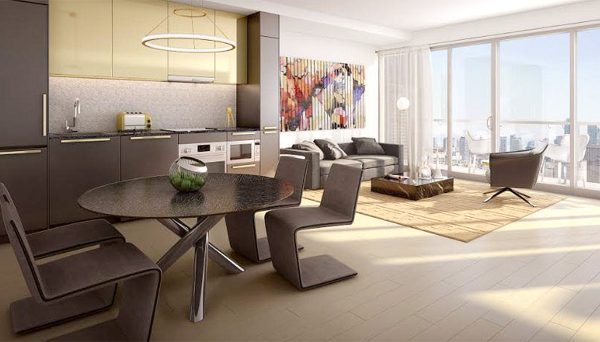 Modern Open Concept condo Layout at 411 Church Street, Toronto, ON M5B 2A4