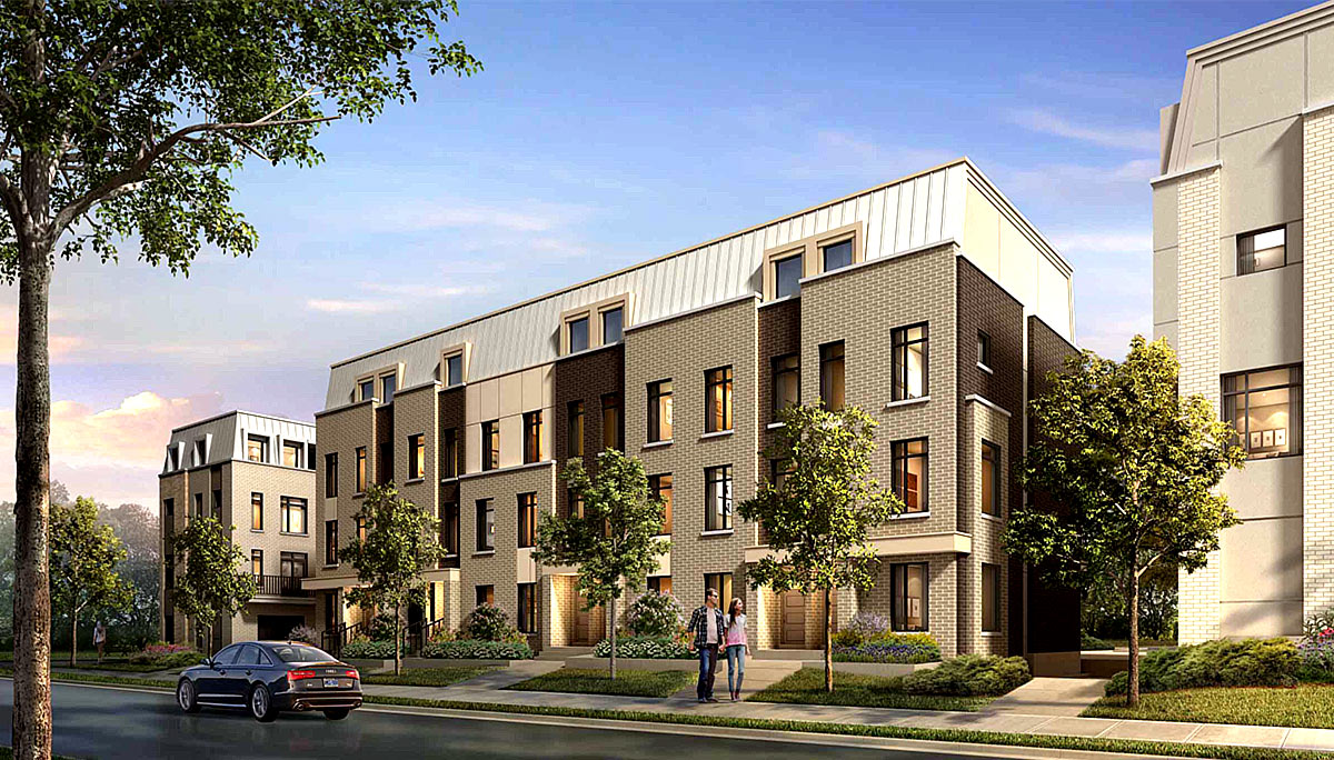 New Luxury Townhomes at Victoria Park and Eglinton.