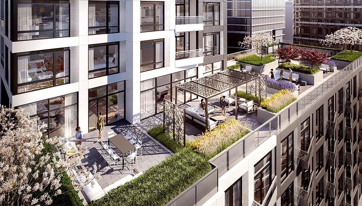 21-storey condominium with 463 suites in East Bayfront Neighbourhood