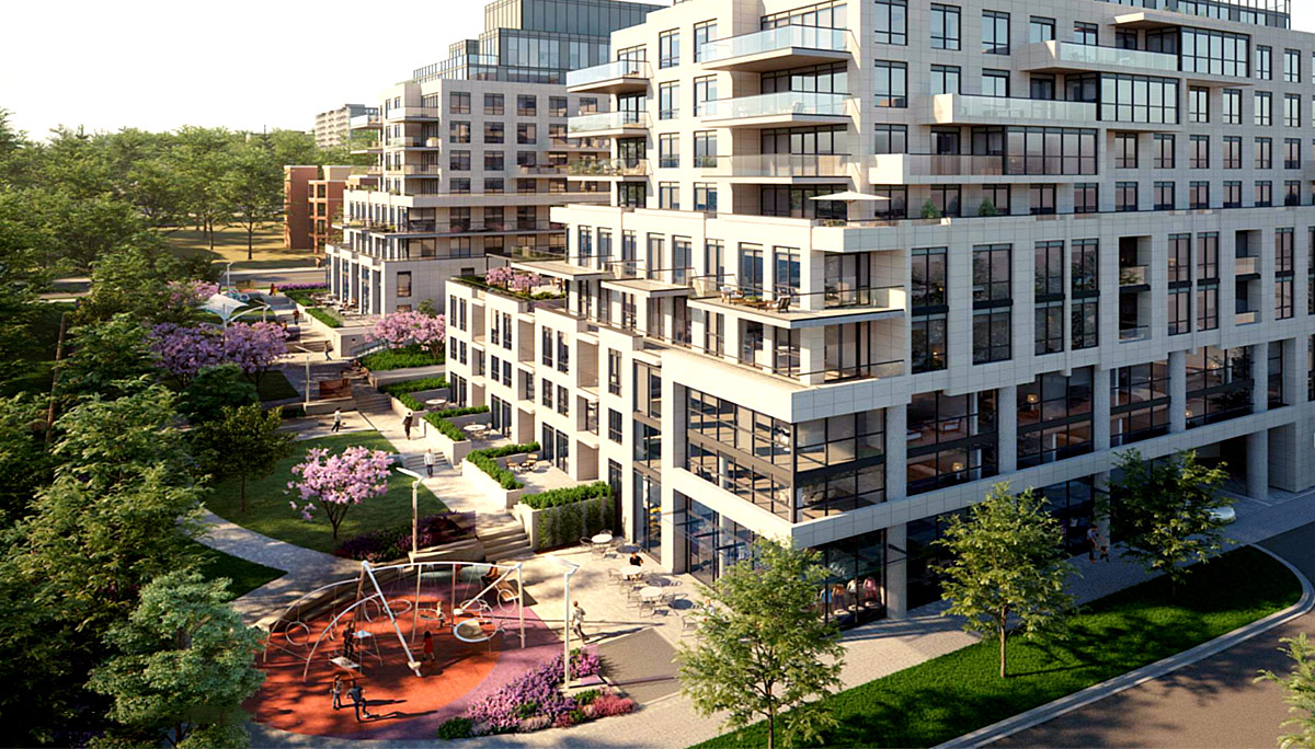 New luxury mid-rise development in the Glen Park neighbourhood