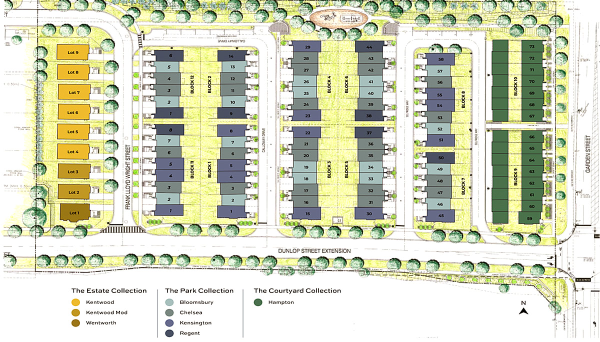 approved for the construction of nine single-detached dwellings, 15 rear lane towns and 72 street townhouse dwellings.