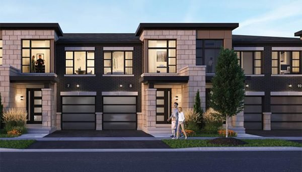 New Townhome Development Project at Brock St N, Whitby, ON