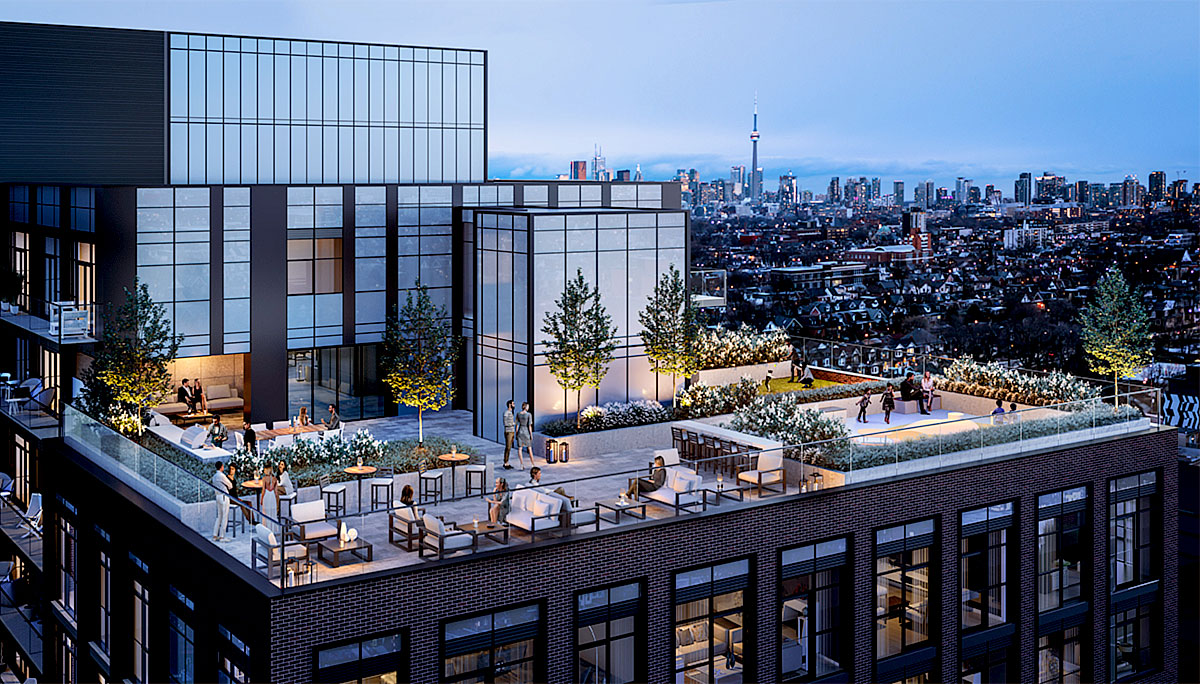 The rooftop is reserved for a rooftop terrace and a green roof