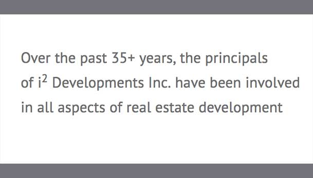 35 years experience in all aspects of real estate development