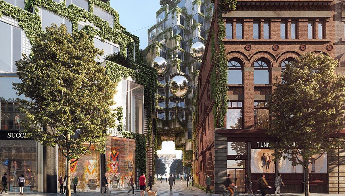 The condominium will feature materials such as brick, stone, precast concrete and glass