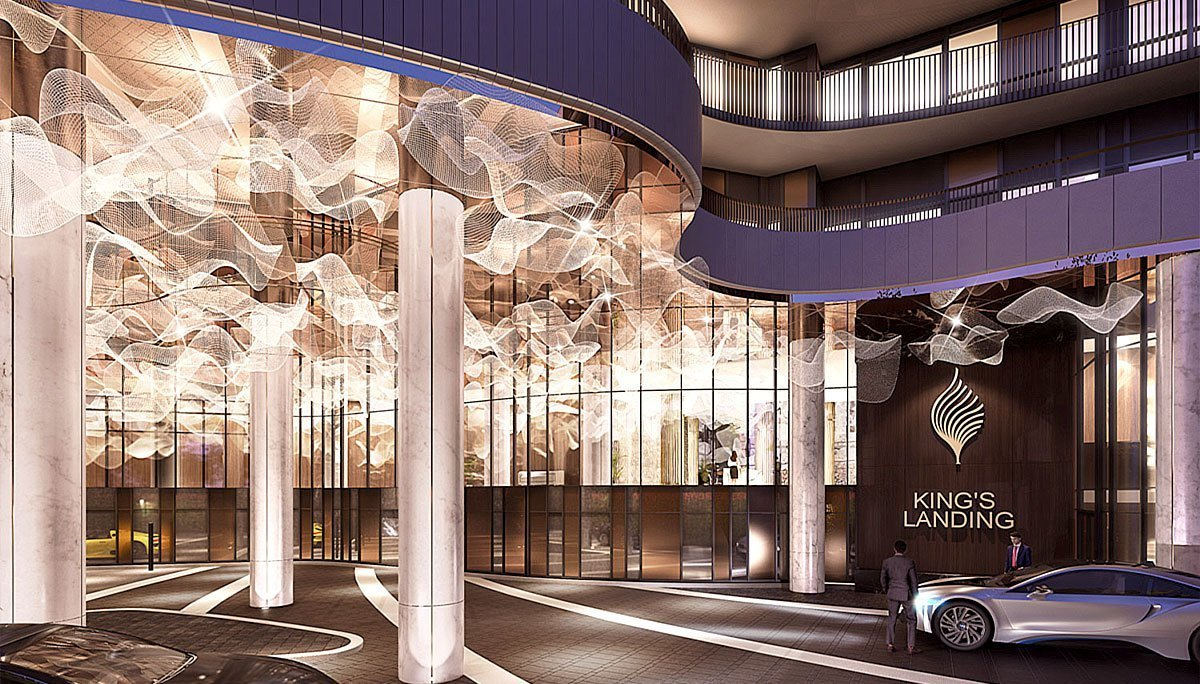 Hotel-inspired ground floor lobby that will feature an enrapturing overhead chandelier installation,