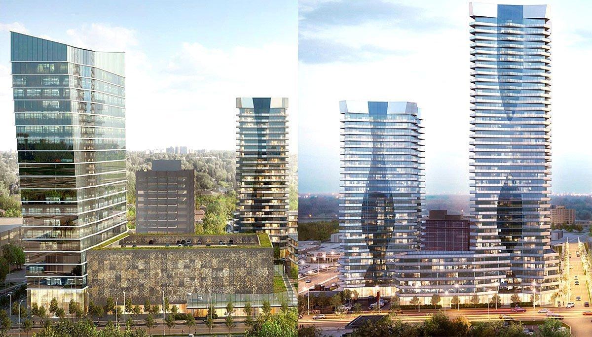 New mixed-use residential condominium development by Elad Canada in the North York