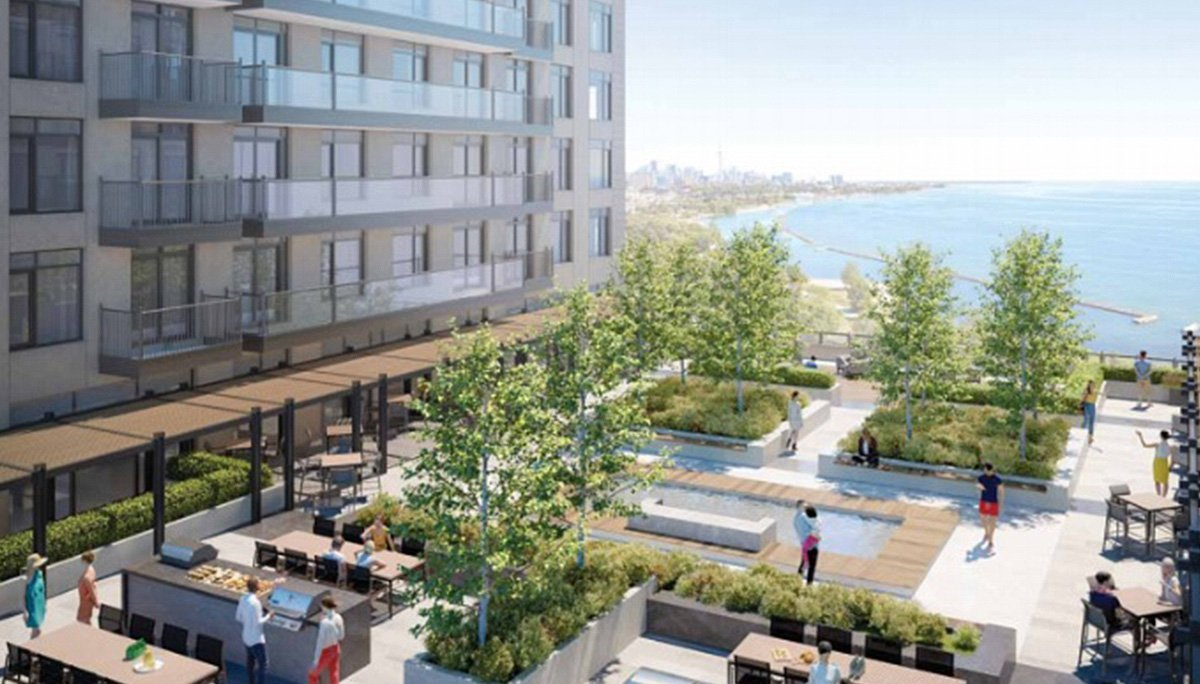 A new luxury high-rise condominium development in waterfront.