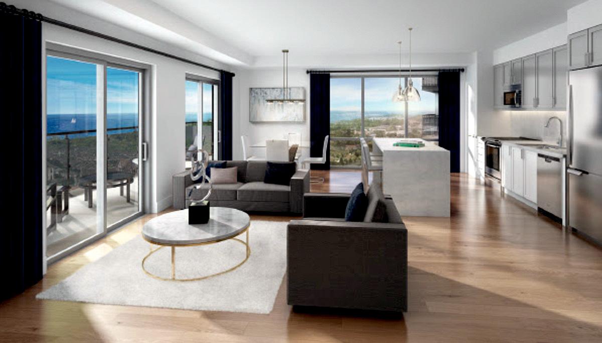 12 Storey Developmen with 1-bedroom, 2-bedroom, and 3-bedroom suites