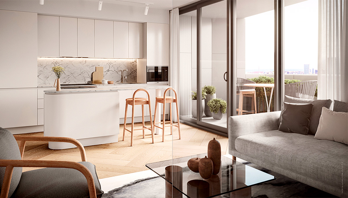 Custom, Studio Gang-designed kitchens