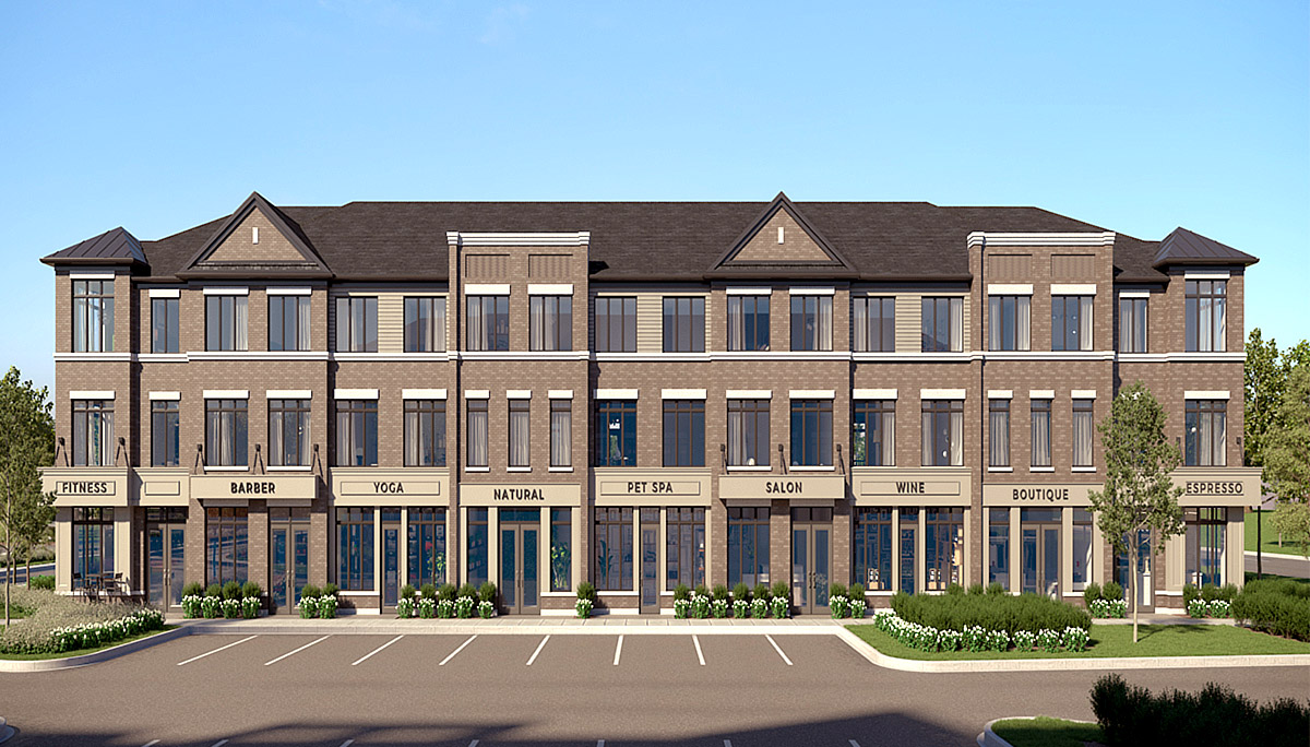 A modern townhome and condo community in Brantford