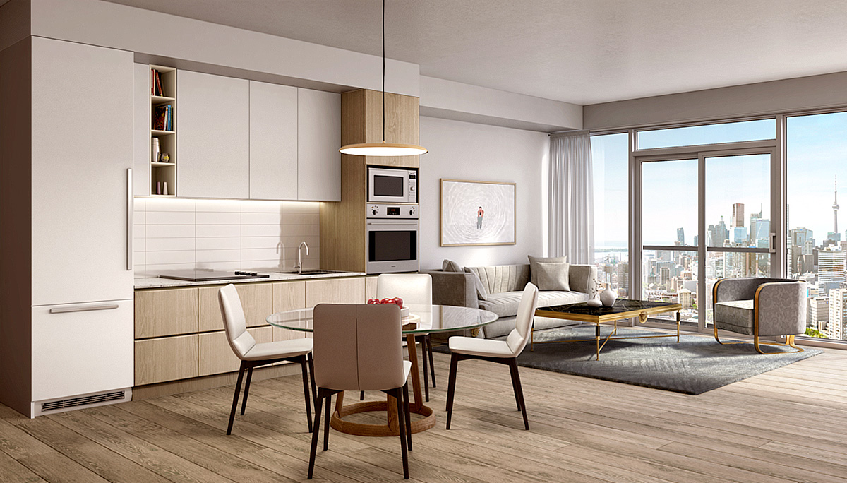 The suites will offer modern features and finishes including smooth finished ceilings throughout