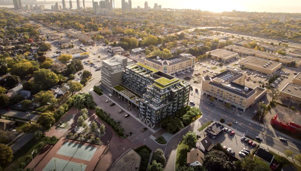 172 residential units, plus retail space on the ground floor
