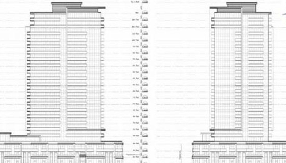 23-storey building with 483 units, ranging in size from 500 to 1,000 square feet