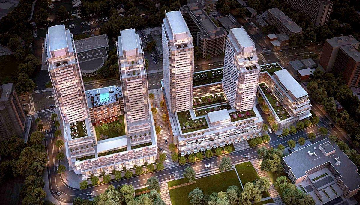 New condo development n the Newtonbrook neighbourhood.