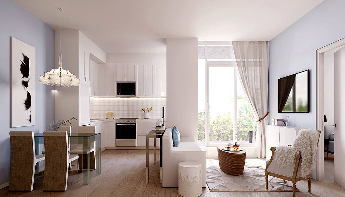 The luxurious condo development will offer a range of suite layouts