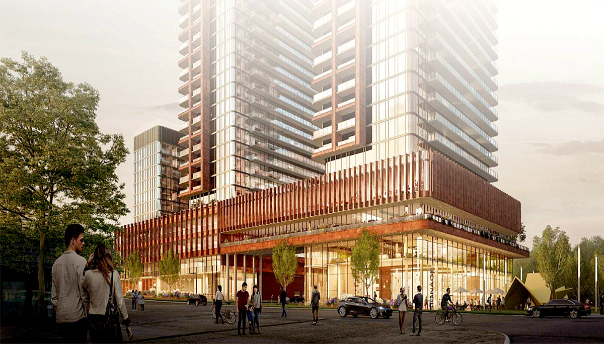 New mixed-use, high-rise towerin the Mimico neighbourhood