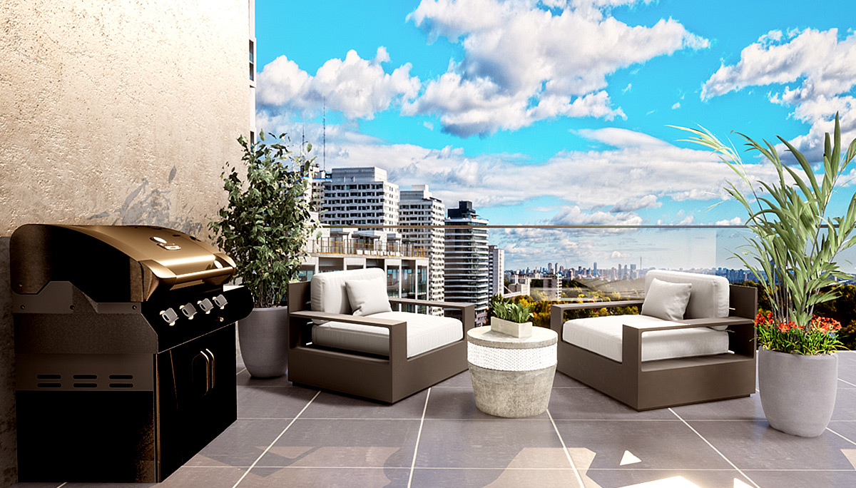 New 12-storeys high featuring 91 units with private terrace or balcony