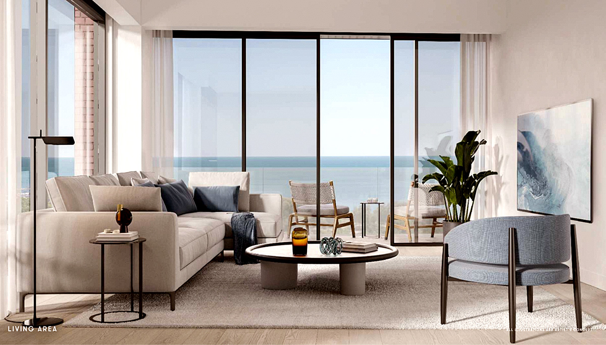 the suites will include spacious 9-foot ceilings in living, dining and bedroom(s)