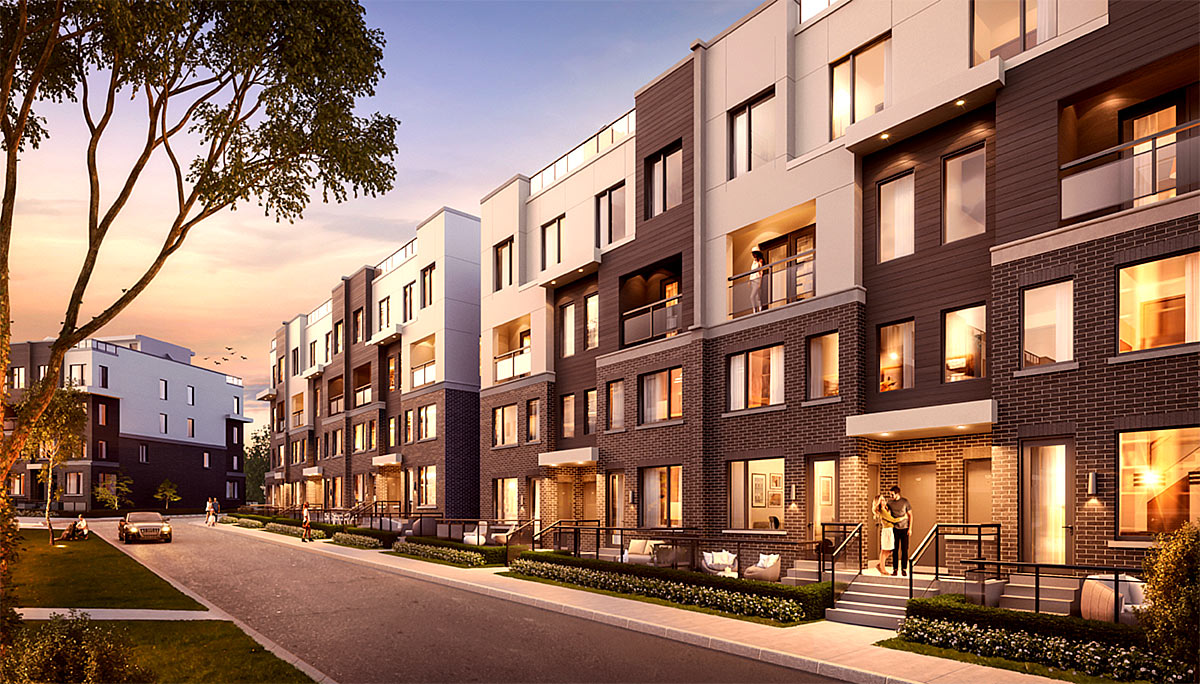 New Townhome Project at Erin Mills Pkwy & The Collegeway, Mississauga, ON