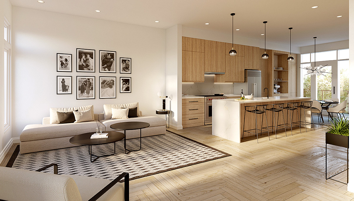 New Contemporary Townhomes with Modern and Luxe Interiors in Richmond Hill